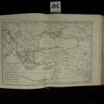 101. [RAYNAL]. ATLAS DE TOUTES LES PARTIES CONNUES DU GLOBE TERRESTRE, dressé pour l'Histoire Philosophique et Politique des Établissements et du Commerce des Européens dans les deux Indes (1780 ?). In-4° de [4]-28 pages, veau porphyre, dos orné (reliure de l'époque) Atlas illustré de 49 cartes (dont 1 bis) sur double page ou dépliantes, dessinées par M. Bonne, ingénieurhydrographe de la Marine, et gravées par André. La carte supplément pour les Antilles est en déficit. Bel exemplaire dans une agréable reliure en veau porphyre. 300/400