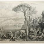 23. ARTAUD (Chevalier). ITALIE – SICILE (par M. de La Salle). Paris, Firmin Didot, 1835. In-8, demi veau brun (reliure de l'époque). Orné de 120 cartes et vues gravées sur acier. Manque au dos. On joint : PERROT. Nouvel itinéraire portatif d'littérature, orné d'une carte et de 5 panoramas. P., Langlois, 1830. In-12 br., mauvais état. 100/150
