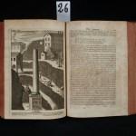 26. BAGLIVI (Gorgio). OPERA OMNIA MEDICO-PRACTICA ET ANATOMICA…. Nec non J.D. Santorini opuscula quatuor. Lyon, Anisson, 1714. In-4° de [8]-39-[11]-854-[2] pages, basane mouchetée, dos orné (reliure de l'époque). Beau portrait gravé et 3 planches hors texte. L'ouvrage renferme de curieuses observations sur les pierres précieuses et une dissertation documentée sur le tremblement de terre qui eut lieu à Rome et dans les environs. Quelques rousseurs, 2 mors fendus. 150/200