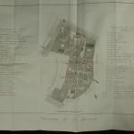 74. QUADRI (Antonio). DESCRIZIONE TOPOGRAFICA DI VENEZIA e delle adjacenti lagune corredata di 34 tavole. Venezia, Cecchini, 1844. Fort volume in-4°, demi velin (reliure de l'époque). Comporte 32 (sur 34) grand plans plusieurs fois dépliants. Fortes mouillures. 100/150