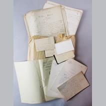12 Cartes De Visite Manuscrites Adressees A Desvernay La Part Clair Tisseur 2 Lettres DAlexandre Demandant